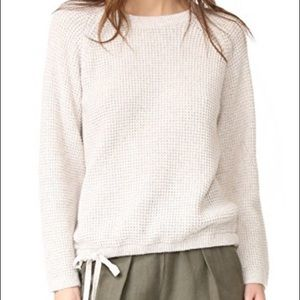 Madewell Waffle-knit Tie Bottom Sweater